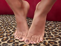 Blowjob, Cumshot, Foot Fetish, Interracial