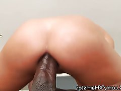 Blowjob, Brunette, Cumshot, Interracial
