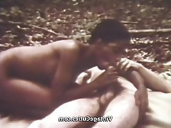 Blowjob, Hairy, Vintage, Interracial