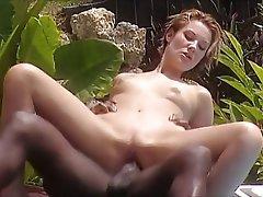 Brunette, Cumshot, Interracial, Small Tits