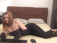 Amateur, Masturbation, Spandex, Webcam